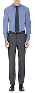Barneys New York MEN'S MICRO-STRIPED COTTON-BLEND DRESS SHIRT-NAVY SIZE 14 R