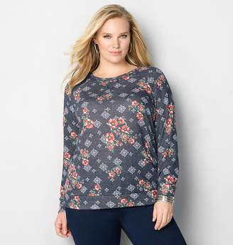Avenue Floral Geo Sweatshirt