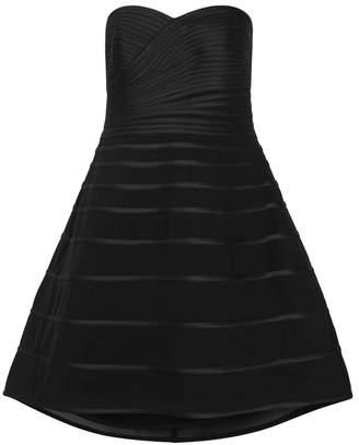 Halston Black Ribboned Satin Dress