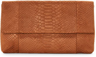Urban Expressions Tan Phoebe Embossed Clutch