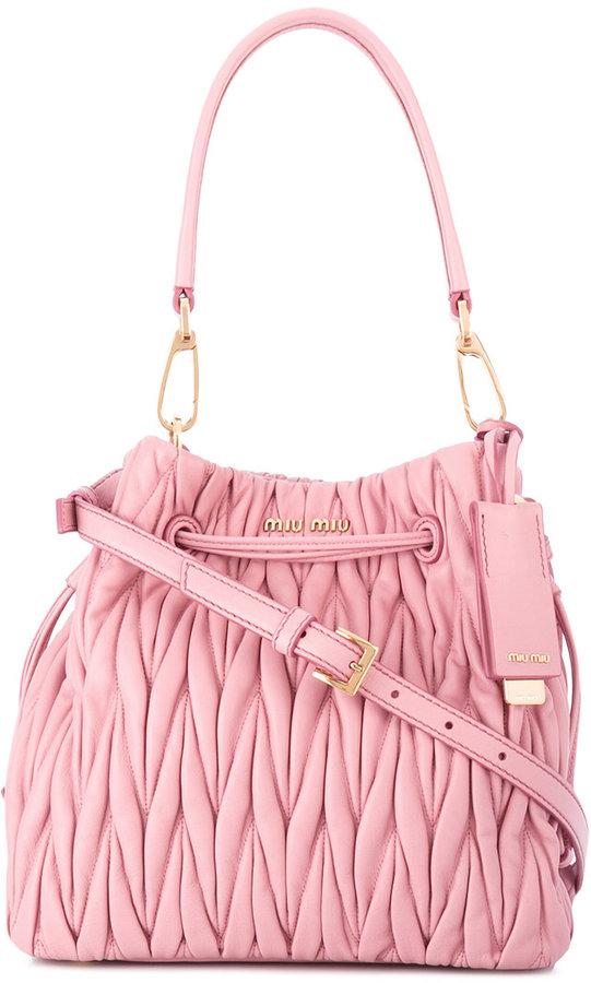 Miu MiuMiu Miu textured satchel