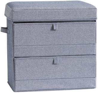 Pottery Barn Teen 2-Tier Wide Floor Storage, Chambray