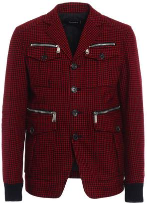 DSQUARED2 Check Wool Field Jacket