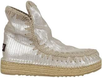 Mou Eskimo 18 Jute Perf Glitter Hi-top Sneakers