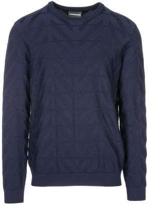 Emporio Armani Crew Neck Neckline Jumper Sweater Pullover Regular Fit