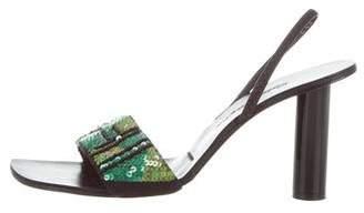 Robert Clergerie Clergerie Paris Embellished Sling-back Sandals