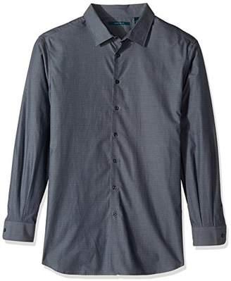Perry Ellis Men's Big & Tall Neat Zig Zag Textured Shirt