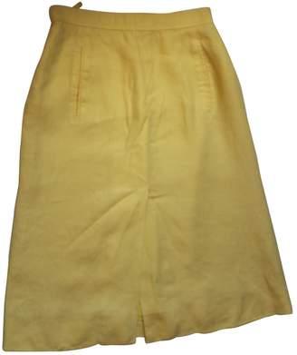 Hermes Yellow Linen Skirt for Women Vintage