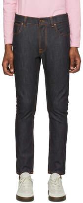 Nudie Jeans Indigo Dry Colors Lean Dean Jeans