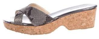 Jimmy Choo Slide Crossover Sandals