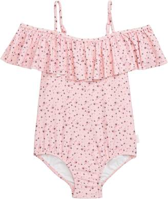 Seafolly Beach Rose Ruffle One-Piece Swimsuit