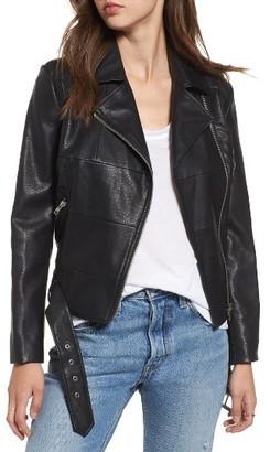 Women's Bb Dakota Maria Washed Faux Leather Patchwork Jacket $109 thestylecure.com