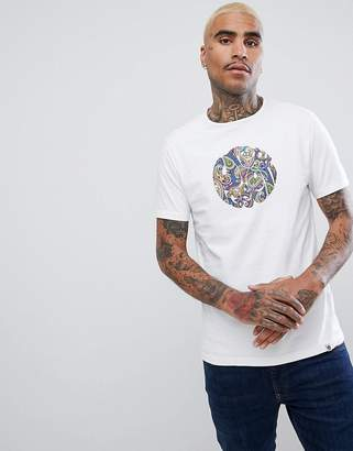 Pretty Green Gillsepie Paisley Logo T-Shirt in White