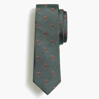 J.Crew Embroidered silk owl tie