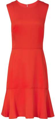 Reiss Jackie - Sleeveless Fit And Flare Dress in Sunset Orange