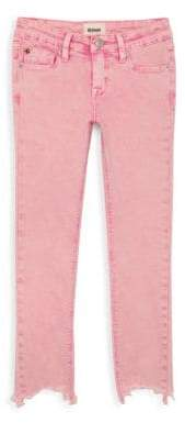 Hudson Jeans Girl's Wren Chewed Hem Ankle Skinny Jeans