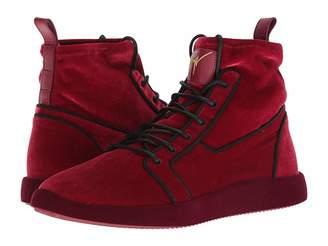 Giuseppe Zanotti Singles Velvet High Top Sneaker