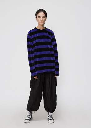 Needles Long Sleeve Narrow Velour Stripe Tee