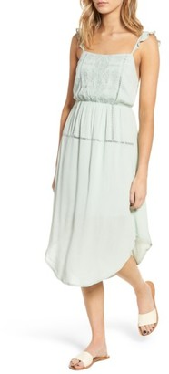 Women's Lush Embroidered Midi Dress $55 thestylecure.com