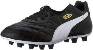 Puma Men's King Top Di FG Soccer Cleats, Black/White/Team Gold