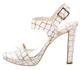 Christian Dior Embossed Multistrap Sandals