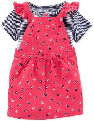 Carter's Baby Girls 2-Pc. Pink Floral Jumper Set