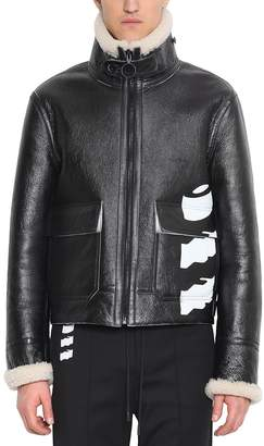 Off-White Off White Leather Shearling Jacket