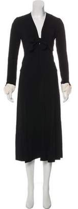 Mayle Maison Long Sleeve Midi Dress Black Maison Long Sleeve Midi Dress