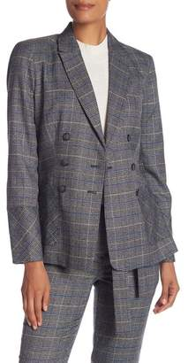 Laundry by Shelli Segal Double Breasted Brixton Plaid Blazer