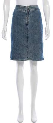 Versace Denim Knee-Length Skirt