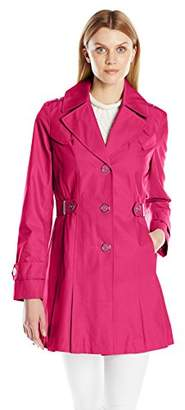 Via Spiga Women's Single-Breasted Pleated Trench Coat