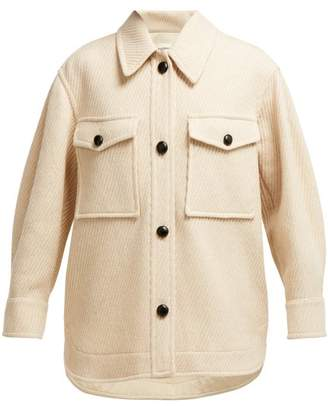 Isabel Marant Ãtoile Atoile - Garvey Oversized Wool Coat - Womens - Ivory