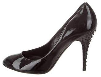 Burberry Patent Leather Embellished Pumps Black Patent Leather Embellished Pumps