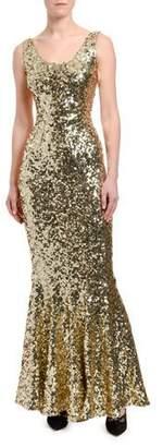 Dolce & Gabbana Sequined Sleeveless Mermaid Gown