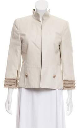 Akris Striped Open-Front Jacket