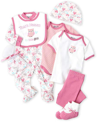 Baby Gear Newborn Girls) 9-Piece Thank Heaven Hanging Gift Set