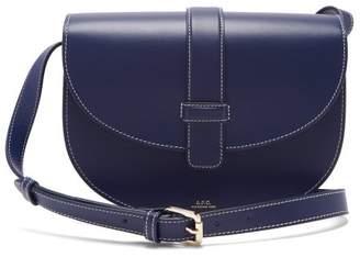 A.P.C. Eloise Leather Saddle Bag - Womens - Navy