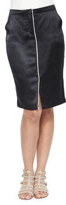 ATM Anthony Thomas Melillo Silk Pencil Skirt with Center Piping $298 thestylecure.com