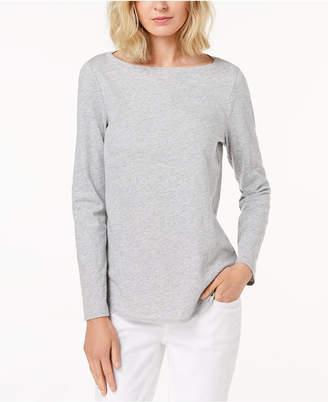 Eileen Fisher Organic Cotton Boat-Neck T-Shirt