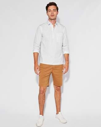 Express Slim Sunburst Print Popover Shirt