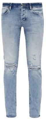 Neuw Iggy Distressed Skinny Fit Jeans - Mens - Light Blue