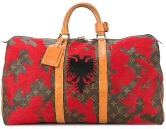 Jay Ahr Albania flag vintage Louis Vuitton keepall