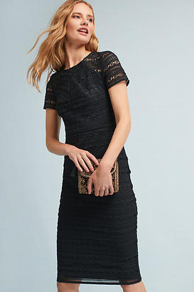 Shoshanna Aleona Lace Column Dress $408 thestylecure.com