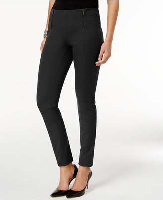 Alfani Double-Zip Skinny Pants, Created for Macy's $69.50 thestylecure.com