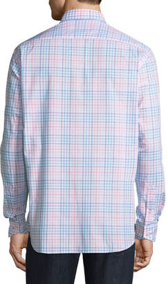 Tailorbyrd Gingham Button-Down Sport Shirt