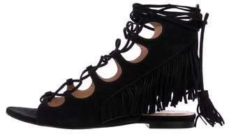 Sigerson Morrison Fringe Lace-Up Sandals