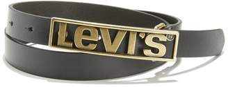 Levi's Logo Plaque Leather Belt