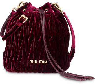 Miu Miu (ミュウミュウ) - Miu Miu matelassé bucket bag