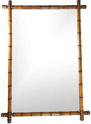 English Wood Bamboo-Style Mirror C. 1900