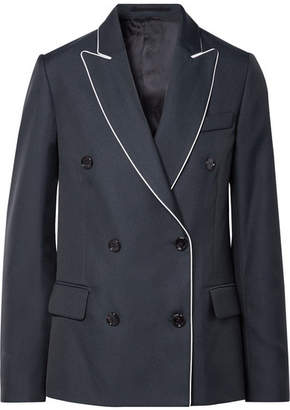 Golden Goose Misam Double-breasted Twill Blazer - Navy